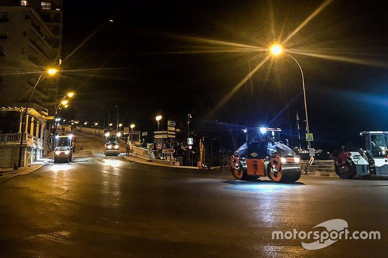 Nuovo asfalto sul circuito di Monte-Carlo