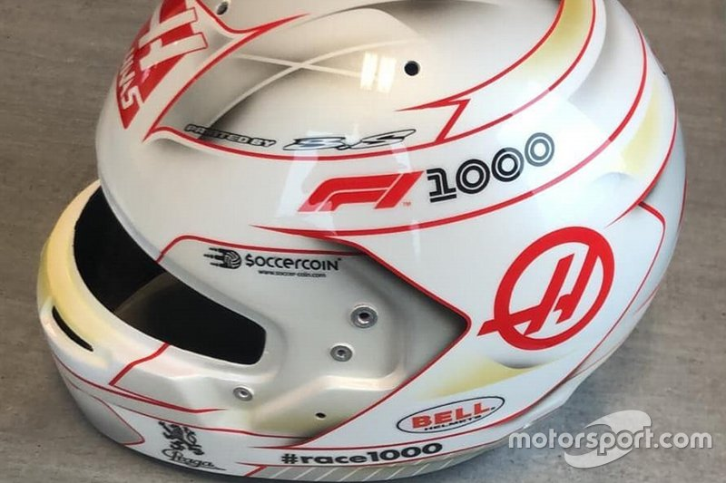 Casco de Romain Grosjean, Haas F1 Team, para el GP de China*