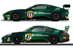 D'station Racing Aston Martin Vantage GT3 & ポルシェ911 GT3 Cup