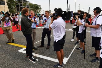 Nic Rosberg, Martin Brundle and Simon Lazenby, Sky Sports F1