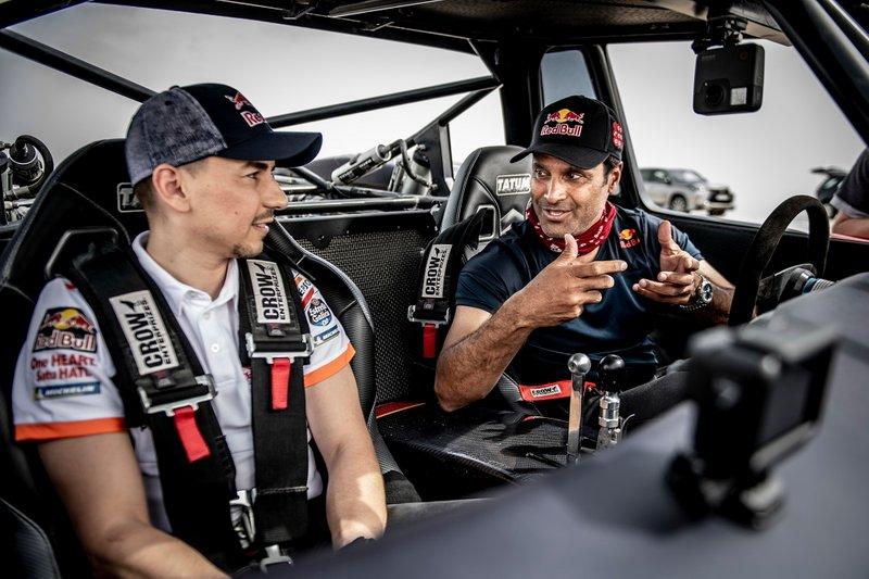 Nasser Al Attiyah y Jorge Lorenzo