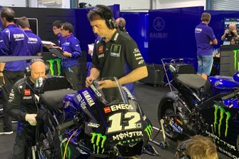 La moto di Maverick Vinales, Yamaha Factory Racing