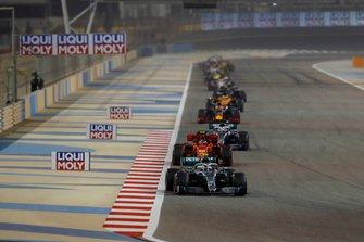 Valtteri Bottas, Mercedes AMG W10, Charles Leclerc, Ferrari SF90, Lewis Hamilton, Mercedes AMG F1 W10