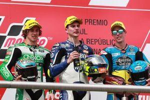 Podio: ganador Lorenzo Baldassarri, Pons HP40, segundo puesto Remy Gardner, SAG Racing Team, tercer puesto Alex Marquez, Marc VDS Racing
