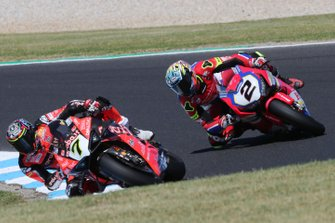 Chaz Davies, Aruba.it Racing-Ducati Team, Leon Camier, Honda WSBK Team