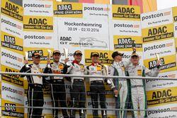 Juniorpodium: Sieger #29 Montaplast by Land-Motorsport, Audi R8 LMS: Connor De Phillippi, Christophe