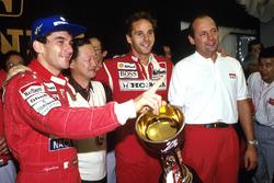 Айртон Сенна, Герхард Бергер и Рон Деннис, McLaren Honda