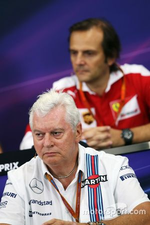 Pat Symonds, Williams Chief Technical Officer in the FIA Press Conference