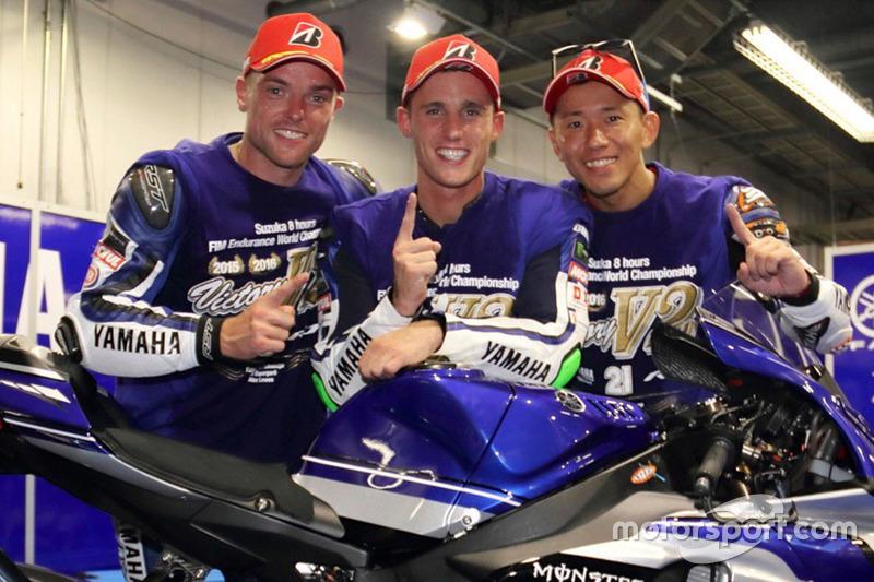 I vincitori #21 Yamaha Factory Racing Team: Katsuyuki Nakasuga, Pol Espargaro, Alex Lowes