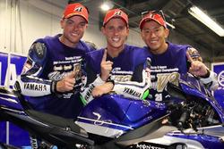 Les vainqueurs Katsuyuki Nakasuga, Pol Espargaro, Alex Lowes (#21 Yamaha Factory Racing Team)
