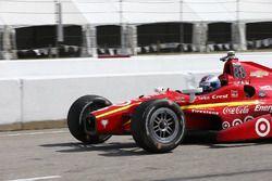 Scott Dixon, Chip Ganassi Racing Chevrolet, après son tête-à-queue