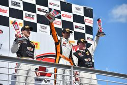 Podium GT: winner Alvaro Parente, K-Pax Racing, second place Michael Cooper, Cadillac Racing, third place Johnny O'Connell, Cadillac Racing