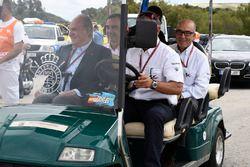Ex Rey de España, Juan Carlos con Carmelo Ezpeleta, CEO Dorna Sports
