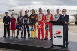 Virgin Australia Group CEO John Borghetti with drivers