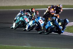 Nicolo Bulega, SKY Racing Team VR46, KTM; Livio Loi, RW Racing GP BV, Honda; Joan Mir, Leopard Racin