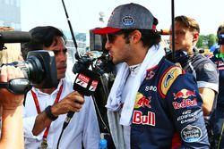 Carlos Sainz Jr, Scuderia Toro Rosso on the grid