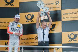 podium, teamboss Peter Mücke Mercedes-AMG Team Mücke, Robert Wickens (CAN) Mercedes-AMG Team HWA, Mercedes-AMG C63 DTM