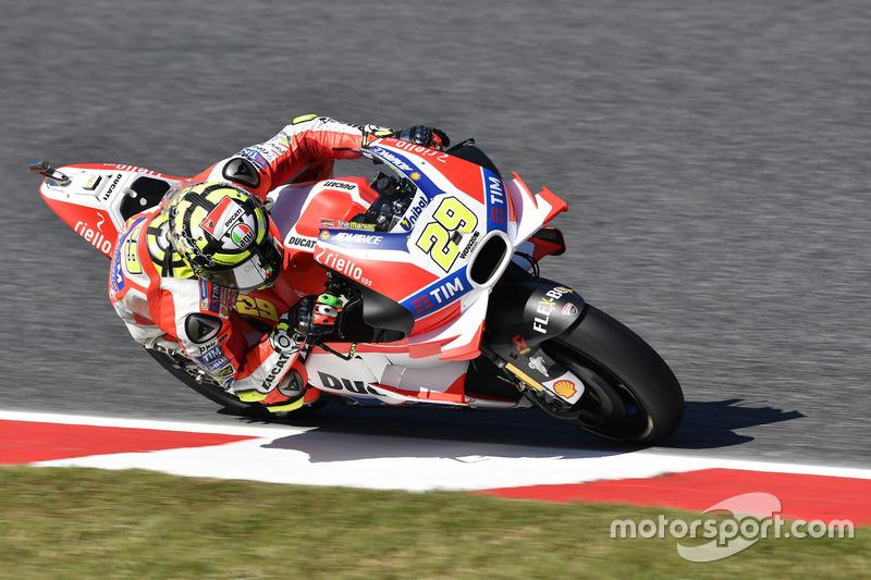 Andrea Iannone (Ducati), Sturz