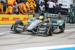 Spencer Pigot, Ed Carpenter Racing Chevrolet aux stands