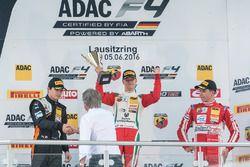 Podium: 2. Kami Laliberté, Van Amersfoort Racing; 1. Mick Schumacher, Prema Powerteam; 3. Thomas Preining, Lechner Racing
