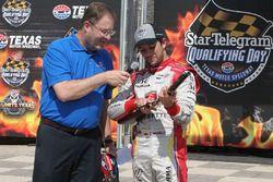 Pole pozisyonu sahibi Carlos Munoz, Andretti Autosport Honda ve Eddie Gossage Jr.