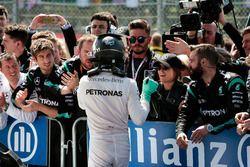 Nico Rosberg, Mercedes AMG F1 celebra su segundo puesto con el equipo