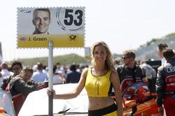 La Grid Girl de Jamie Green, Audi Sport Team Rosberg, Audi RS 5 DTM