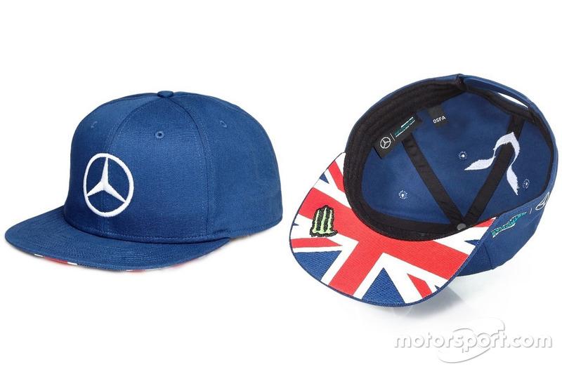 """Casquette Mercedes, Lewis Hamilton spéciale """"GP de Grande-Bretagne 2016"""""""