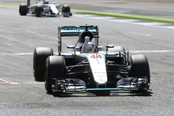 Winnaar Lewis Hamilton, Mercedes AMG F1 W07 Hybrid viert feest