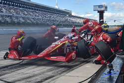 Scott Dixon, Chip Ganassi Racing Chevrolet, pit action