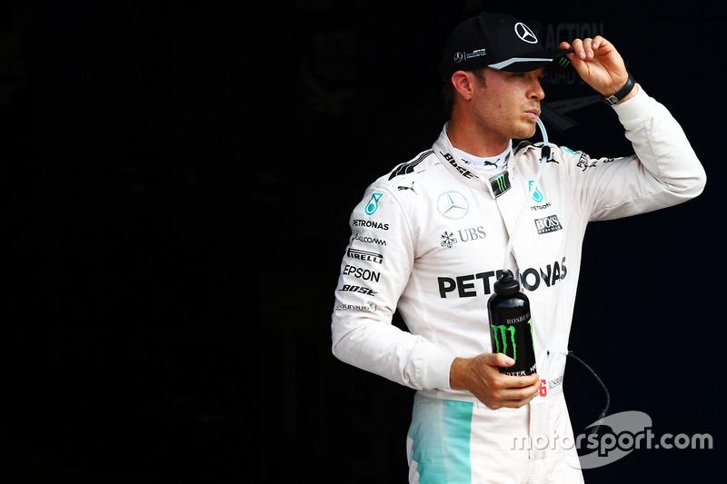 Nico Rosberg, Mercedes AMG F1 in qualifying parc ferme