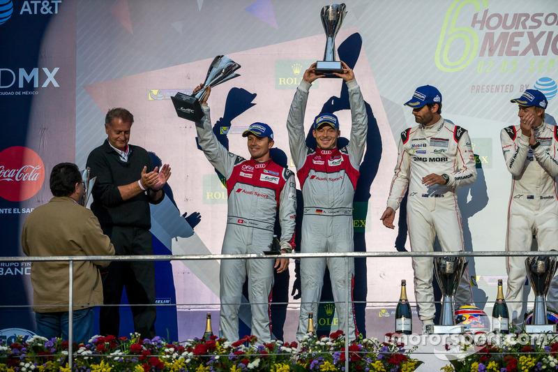 2nd place #7 Audi Sport Team Joest Audi R18: Marcel Fässler, Andre Lotterer