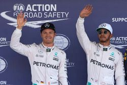 Pole for Lewis Hamilton, Mercedes AMG F1, 2nd for Nico Rosberg, Mercedes AMG F1