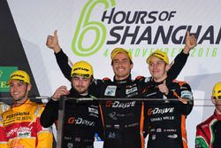 Podium LMP2: winners #26 G-Drive Racing Oreca 05 Nissan: Roman Rusinov, Alex Brundle, Will Stevens