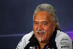 Dr. Vijay Mallya, propriétaire Sahara Force India F1 Team lors de la conférence de presse de la FIA