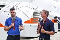 Texto traducido Steve Jones, canal 4 presentador de F1 David Coulthard, Red Bull Racing y Scuderia