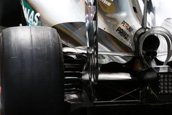 Détails de l'arrière de la Mercedes W07 Hybrid