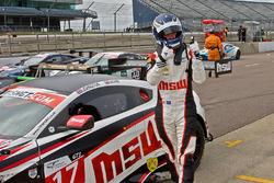 Race winner Jonny Adam
