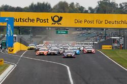 Marco Wittmann, BMW Team RMG, BMW M4 DTM and Jamie Green, Audi Sport Team Rosberg, Audi RS 5 DTM wit