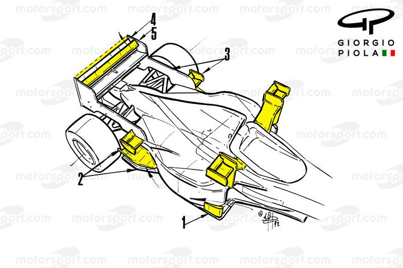 Tyrrell 025 dengan sayap-X, GP Monako 1997