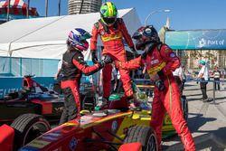 Sieger Lucas di Grassi, ABT Schaeffler Audi Sport; 2. Stéphane Sarrazin, Venturi; 3. Daniel Abt, AB