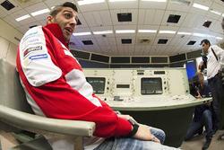 Andrea Iannone, Ducati Team pendant une visite du Centre Spatial Johnson de la NASA