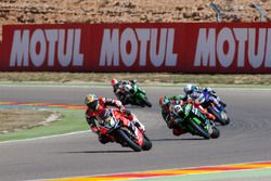 Chaz Davies, Aruba.it Racing - Ducati Team et Tom Sykes, Kawasaki Racing Team