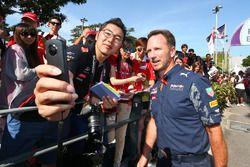 Christian Horner, Red Bull Racing Jefe de equipo con los fans