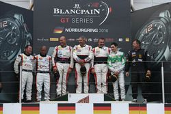 Podium AM-Cup: Winners #87 AKKA ASP, Mercedes-AMG GT3: Maurice Ricci, Jean-Luc Beaubelique, Gilles V