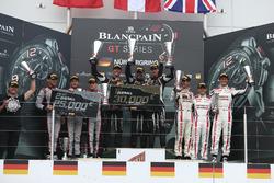 Podium: Winners #16 GRT Grasser Racing Team, Lamborghini Huracan GT3: Rolf Ineichen, Christian Engel