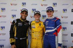 Ganador, Louis Deletraz, Fortec Motorsports, segundo, Roy Nissany, Lotus, tercero, Egor Orudzhev, Ar