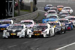 Start zum Rennen, Nico Müller, Audi Sport Team Abt Sportsline, Audi RS 5 DTM und Tom Blomqvist, BMW