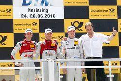 Podium: Sieger Edoardo Mortara, Audi Sport Team Abt Sportsline, Audi RS 5 DTM; 2. Jamie Green, Audi