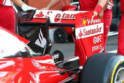 Ferrari SF16-H, el alerón trasero el viernes
